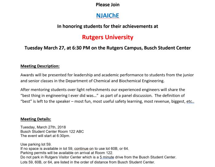 Rutgers Awards 2018