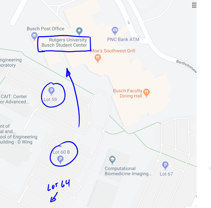Rutgers Parking Map